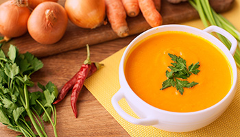 Recipe for red lentil, carrot and orange soup