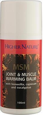 Baume MSM chauffant pour muscles et articulations
