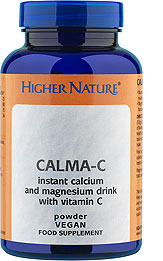 Relaxing calcium and magnesium drink with vitamin C