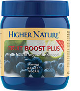 Fruit Boost Plus - Powdered whole Blueberries, apples, tomatoes and broccoli to make a delicious fruit smoothie