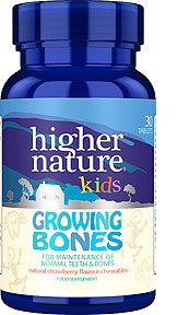 Kids calcium, magnesium and Vitamin D3 chewable tablets for growing bones