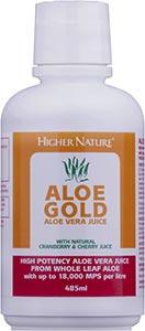 Jus Aloe Gold aux cerises/canneberges