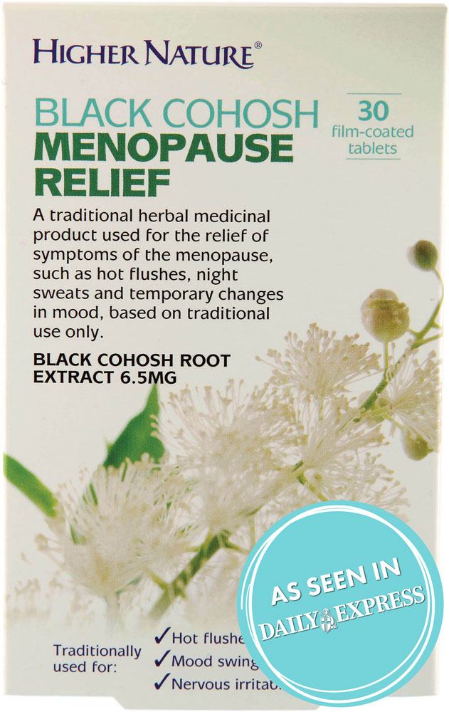 Black Cohosh Menopause Relief - Higher Nature