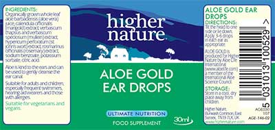 Herbal Aloe Gold Ear Drops