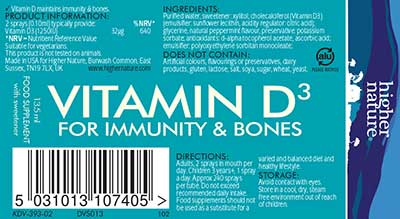 Adults Vitamin D3 Spray