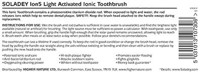 Light Activated Ion5 Ionic Toothbrush