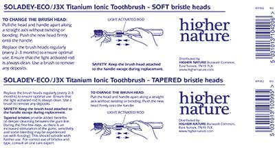 Ionic Toothbrush replacement heads
