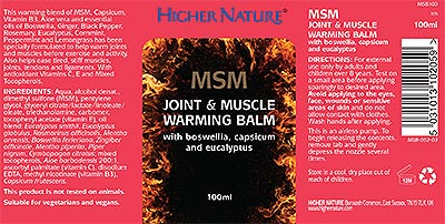 MSM Joint and Muscle Warming Balm