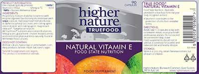True Food Natural Vitamin E